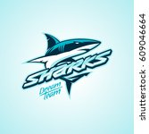 sharks logo for a club or sport ...