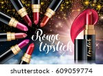 makeup ads template charming... | Shutterstock .eps vector #609059774