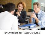 business representatives... | Shutterstock . vector #609064268