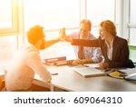 toned of successful... | Shutterstock . vector #609064310