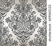 seamless floral pattern for...   Shutterstock .eps vector #609065123