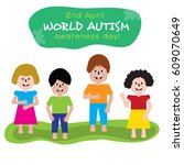world autism day awareness... | Shutterstock .eps vector #609070649