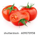 red tomato vegetables with... | Shutterstock . vector #609070958
