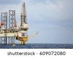 offshore construction platform...   Shutterstock . vector #609072080