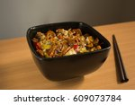 chinese food  stir fry with... | Shutterstock . vector #609073784