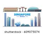 Singapore. Vector Illustration...