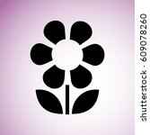 flower icon | Shutterstock .eps vector #609078260