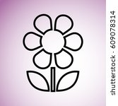 flower icon | Shutterstock .eps vector #609078314