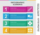 modern band infographic... | Shutterstock .eps vector #609079550