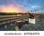 Railway Station With Semaphore...