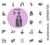 lotion icon. spa set vector... | Shutterstock .eps vector #609085700