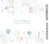fashion cosmetics square... | Shutterstock .eps vector #609088220