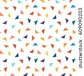 colorful geometric seamless... | Shutterstock .eps vector #609090203