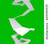design element. 3d illustration.... | Shutterstock . vector #609090929