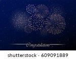 firework show on night sky...