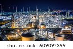 aerial view oil refinery ... | Shutterstock . vector #609092399