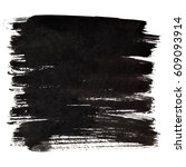 black thick brush strokes... | Shutterstock . vector #609093914
