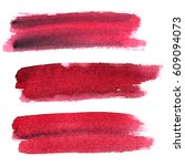 set of dark red expressive... | Shutterstock . vector #609094073