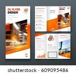 tri fold brochure design.... | Shutterstock .eps vector #609095486