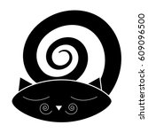 tender paper with cat. tender... | Shutterstock .eps vector #609096500