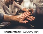 do not drink and drive  cropped ... | Shutterstock . vector #609099404