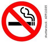 red symbol of no smoking zone | Shutterstock . vector #60911035