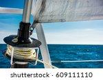 sailing yacht catamaran sailing ... | Shutterstock . vector #609111110