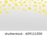 vector realistic effect with... | Shutterstock .eps vector #609111500