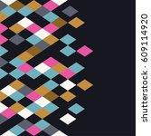 rhombus background. geometric... | Shutterstock .eps vector #609114920