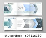 set of business templates for... | Shutterstock .eps vector #609116150