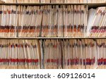 medical records folder archive... | Shutterstock . vector #609126014