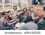 business people working while... | Shutterstock . vector #609133250