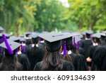 back of graduates during... | Shutterstock . vector #609134639