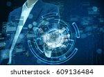 technology in business hand | Shutterstock . vector #609136484