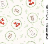 seamless background of best... | Shutterstock .eps vector #609138188