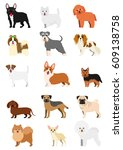 small dog breeds set | Shutterstock .eps vector #609138758