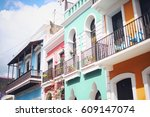 Colorful House Facades Of Old...