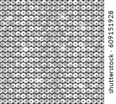 seamless pattern with silver... | Shutterstock .eps vector #609151928