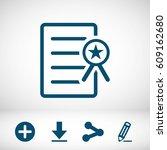 certificate icon | Shutterstock .eps vector #609162680
