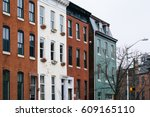 brick row houses in mount... | Shutterstock . vector #609165110