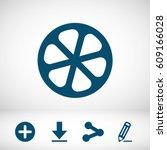 lemon icon stock vector... | Shutterstock .eps vector #609166028