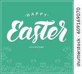 vector illustration  greeting... | Shutterstock .eps vector #609169070