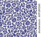 chintz seamless pattern | Shutterstock .eps vector #609180260