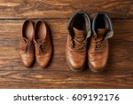Old Boots Set Of Traveler On A...