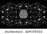 conceptual polygonal brain with ...