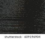 corrupted source code. modern... | Shutterstock .eps vector #609196904