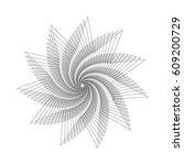 abstract geometric figure.... | Shutterstock .eps vector #609200729