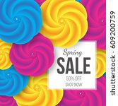 spring sale banner with... | Shutterstock .eps vector #609200759