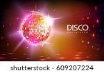 disco ball background | Shutterstock .eps vector #609207224