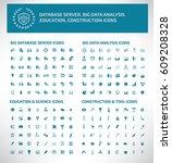 big icon set clean vector | Shutterstock .eps vector #609208328